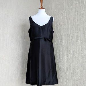 NWT Banana Republic Black 💯 Silk Dress - 16